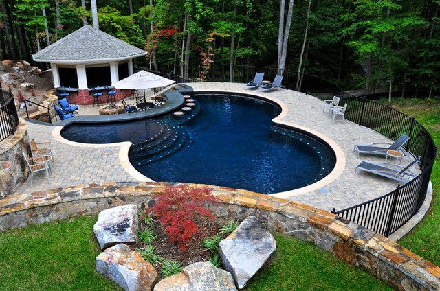 Charmant Get A Refreshing View Of Nature With A Pool On Your Backyard That Gives You  An Amazing View Of The Woodlands.