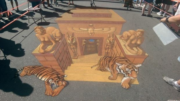 Colorful Chalk Art Festival