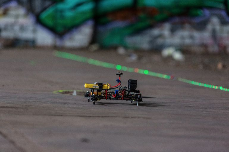 There's nothing at stake here except bragging rights, but combine that with the adrenaline of FPV racing and you'll get a bunch of people entirely prepared to push their machines to the limit