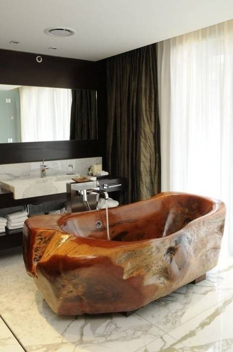 cool solid wood tub would be great for a cabin...
