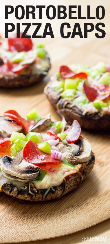 "These portobello ""pizza"" caps."