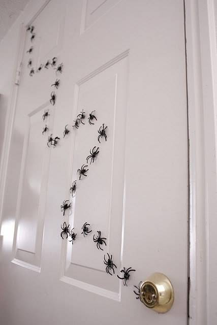 DIY your own spider trail with plastic spider rings.
