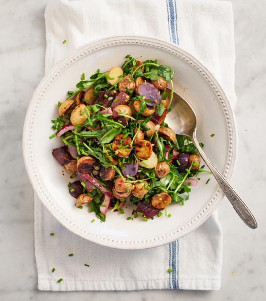 Grilled Potato and Arugula Salad