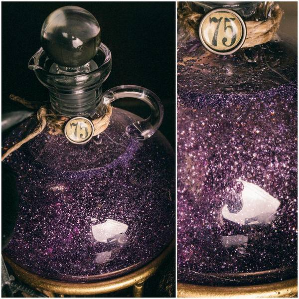 Mix up glitter in corn syrup to get this delightful potion effect.