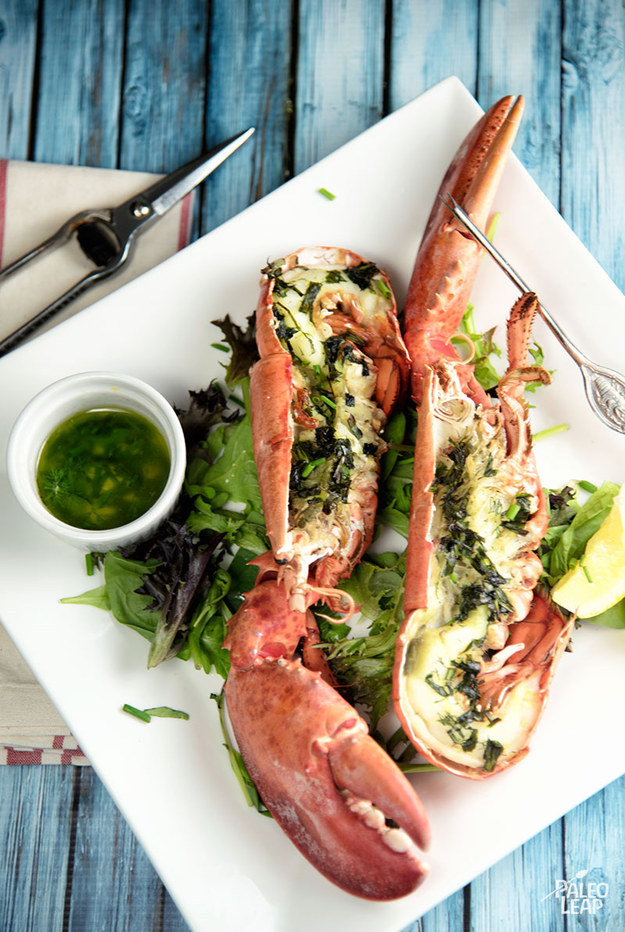 Grilled Lobster with Fresh Herbs