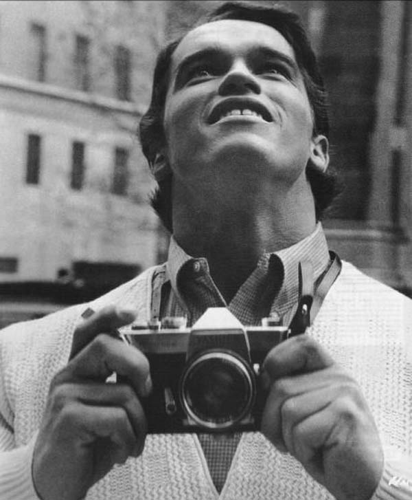 Arnold Schwarzenegger seeing NYC for the first time (1968).