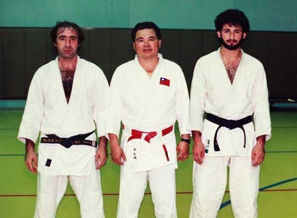 Osama Bin Laden and his judo classmates.