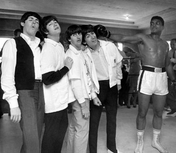 The Beatles and Muhammad Ali (1964).