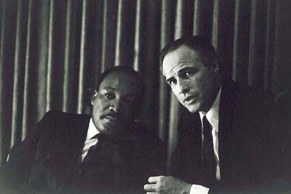 MLK Jr. and Marlon Brando.
