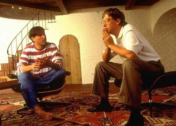 Steve Jobs and Bill Gates.