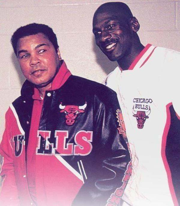 Muhammad Ali and Michael Jordan (1992).