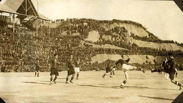Camp Nou Stadium in Barcelona (1925).