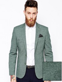 Asos Slim Fit Blazer In Jersey