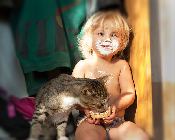 Kids With Cats