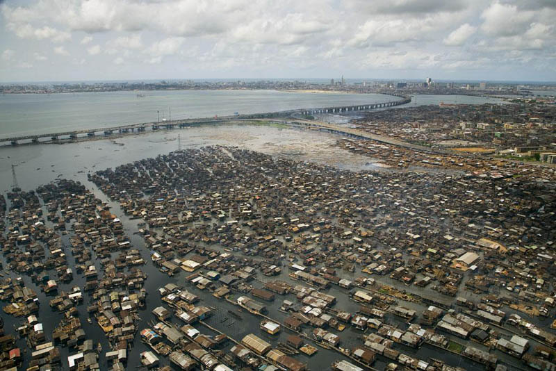 makoko shanty town lagos lagoon lagos state nigeria 25 Mind Blowing Aerial Photographs Around the World