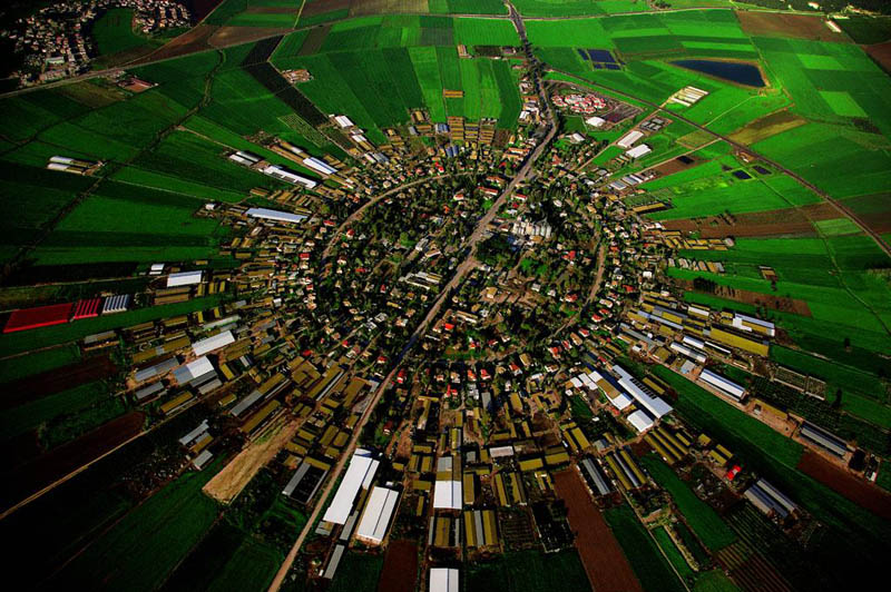 moshav co operative village farm at nahalal jezrael plain israel 25 Mind Blowing Aerial Photographs Around the World