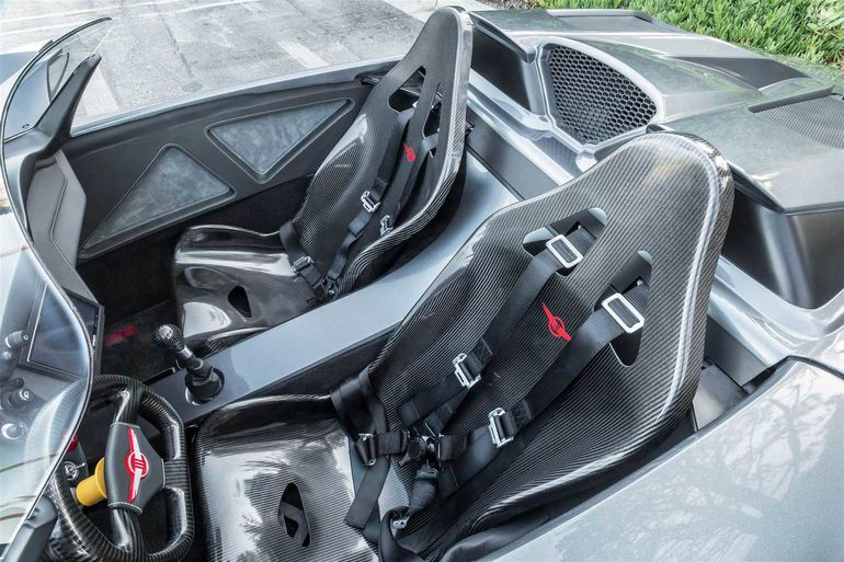 The Beast has carbon fiber seats and steering wheel