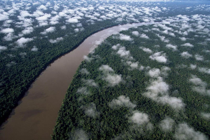 the orinoco river near the esmeralda amazon rain forest amazonas region venezuela 25 Mind Blowing Aerial Photographs Around the World