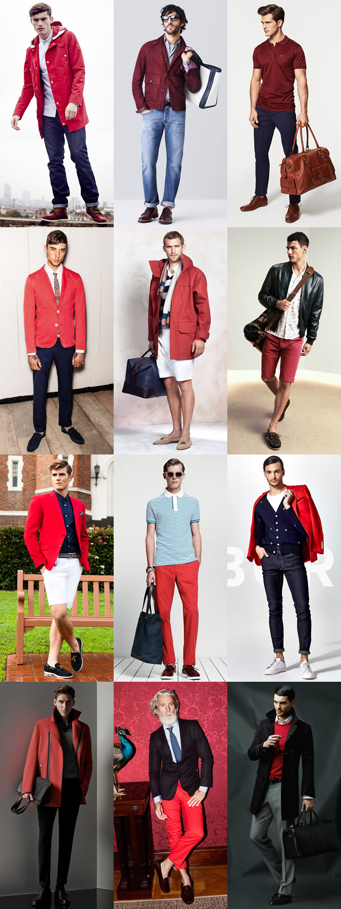 Men's Red Clothing Spring/Summer Outfit Inspiration Lookbook