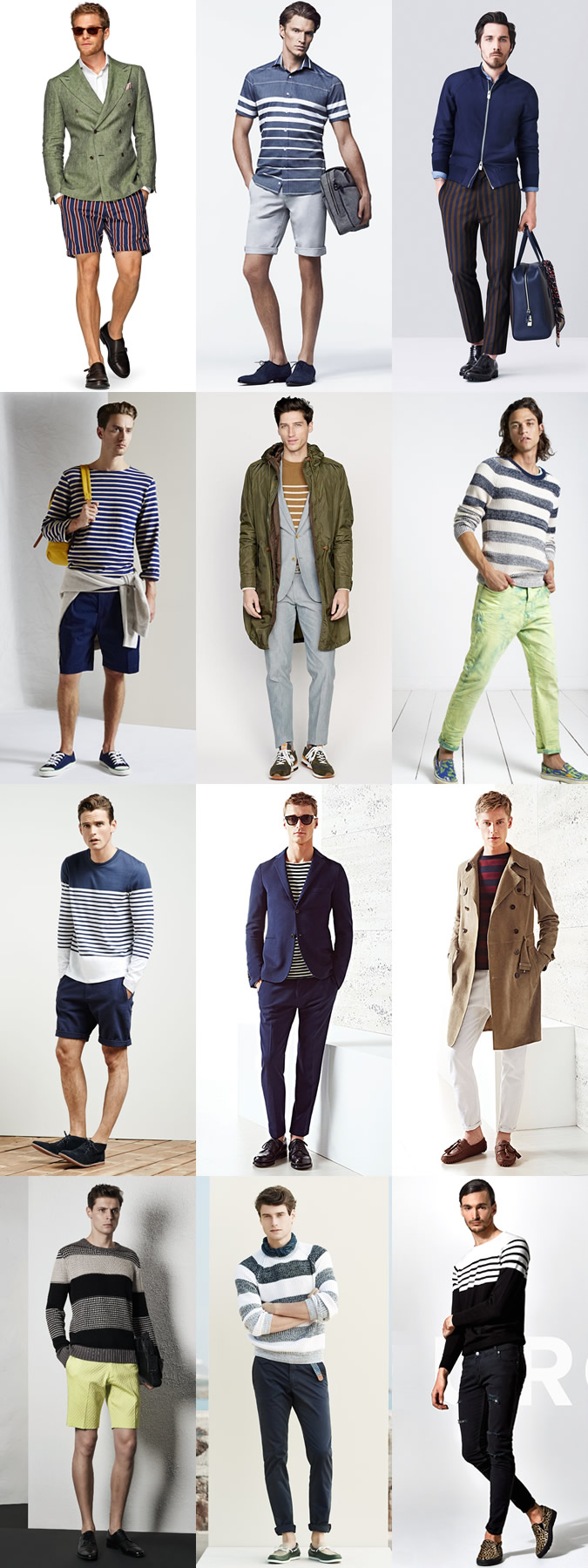 Men's Striped Clothing Spring/Summer Outfit Inspiration Lookbook