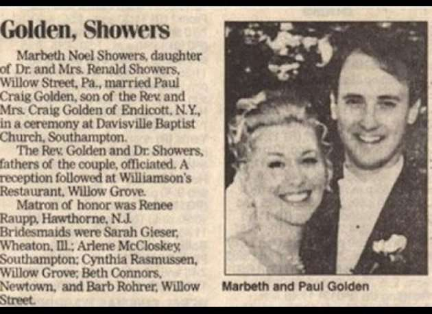 Newspaper Wedding Invitations: Most Hilarious Last Names From Combined Couples' Surnames