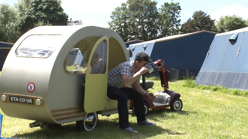 11. Smallest Caravan - Yannick Read's QTvan