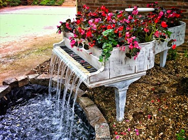 Using Recycled Goods: Garden Ideas For Your Own Whimsical ... on Whimsical Backyard Ideas id=42904
