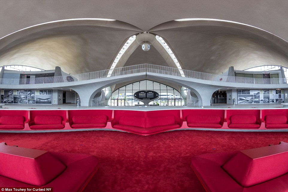 The flight centre was the last project of architect Eero Saarinen, the Finnish-American designer known for his love of curves. The photograph, by Max Touhey, first appeared in Curbed