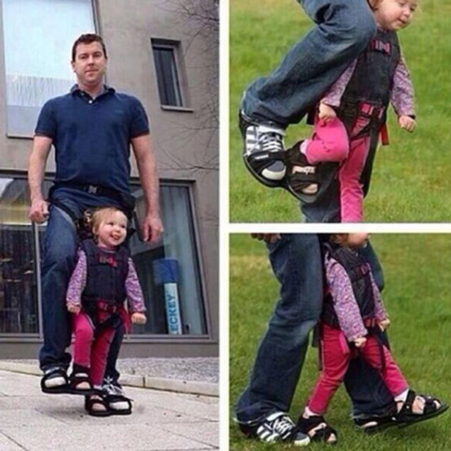 This Dad who simulates walking for his paralyzed daughter