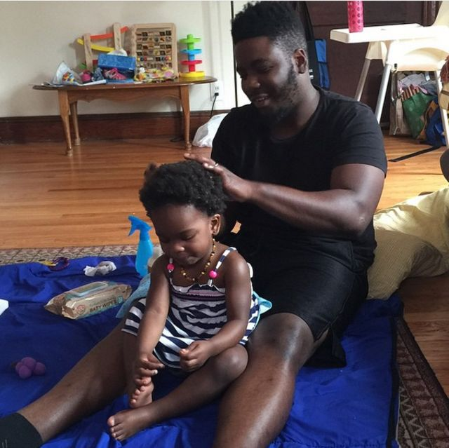 The Dad who knows how to style his baby girl's hair