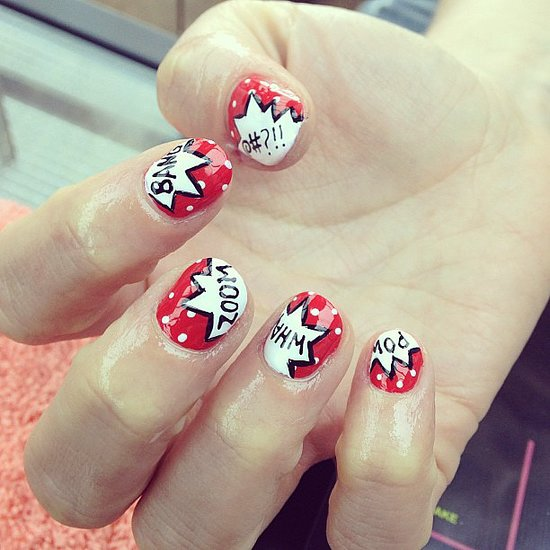 15 super hero nail art ideas wow amazing boom bang what prinsesfo Gallery