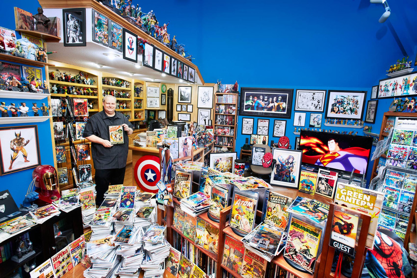 8. Largest Collection of Comic Books - Bob Bretall