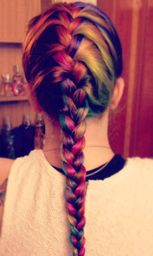 Colorful Braid Hairstyle colored