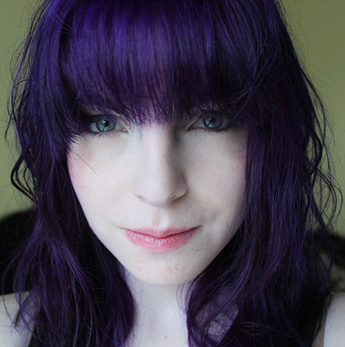 Dark Purple Hairstyle colored