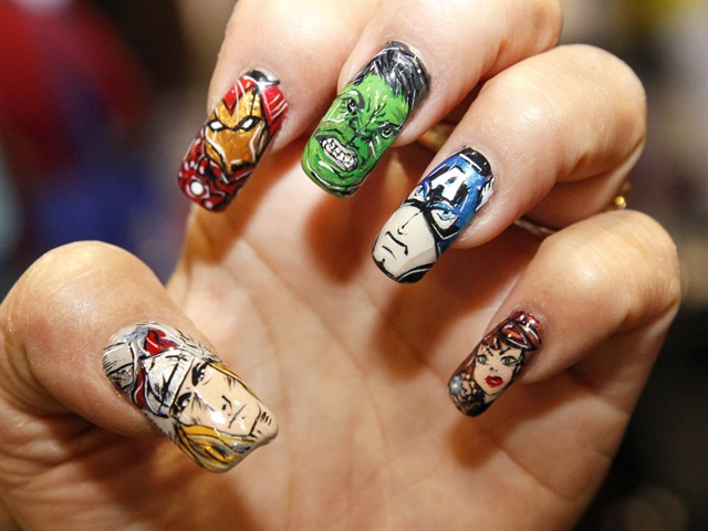 The Marvels are Here - 15 Super Hero Nail Art Ideas – Wow Amazing