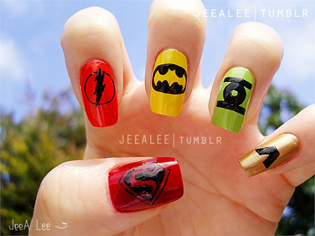 15 super hero nail art ideas wow amazing lets see how well you know the logos prinsesfo Gallery