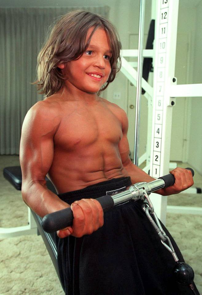 Mandatory Credit: Photo by Stewart Cook/REX_Shutterstock (371446t)  RICHARD SANDRAK  RICHARD SANDRAK, THE 9 YEAR OLD BODYBUILDER, LOS ANGELES, AMERICA