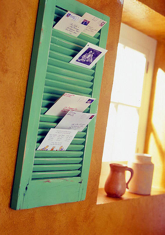 An Upcycled Mail Organizer