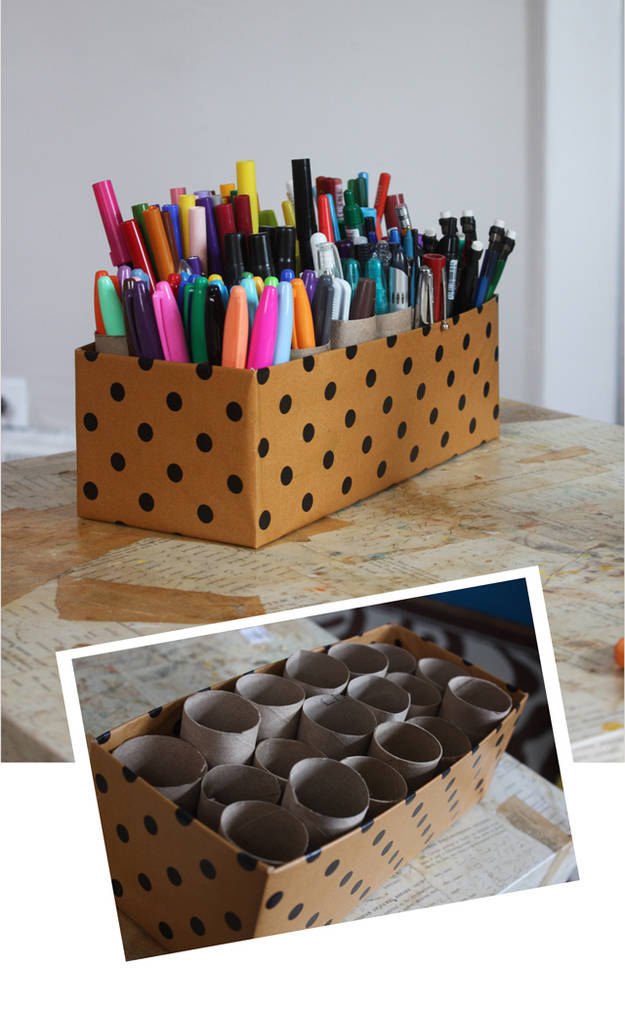 DIY Pen and Marker Holder