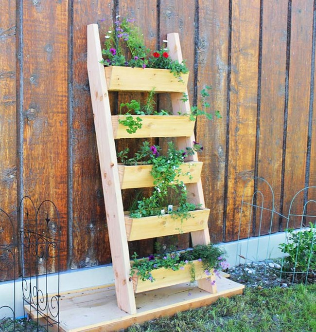 "...Or <a href=""http://ana-white.com/2014/06/plans/cedar-vertical-tiered-ladder-garden-planter"" target=""_blank"">this one</a>!"