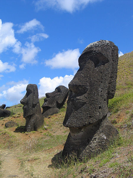 The carvings represent deified ancestors, and were originally positioned to gaze out over their ancestral lands.