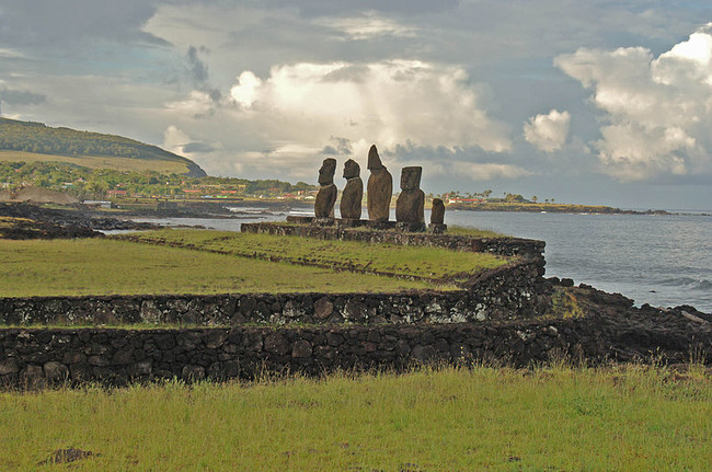 Today, more than 50 moai have been re-erected, excavated, and placed back on their original stone platforms. Some have been shipped off to museums in other areas of the world.