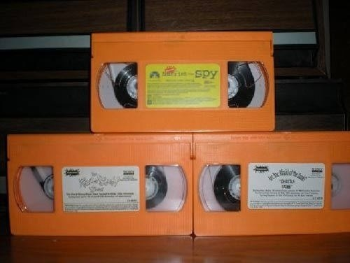 We had orange VHS tapes...
