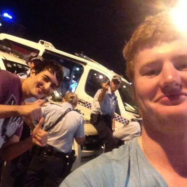 This demonstration of why you don't take a selfie with the police.