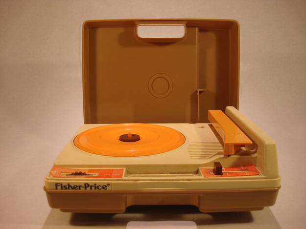 ...on your state-of-the-art Fisher-Price record player.