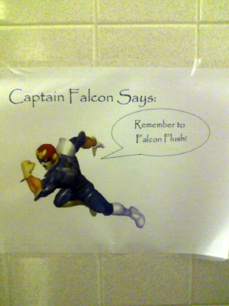 funny roommate note falcon flush