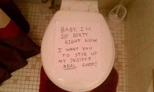 funny roommate note toilet dirty