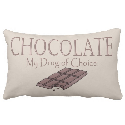 Funny Chocolate My Drug Of Choice Throw Pillow