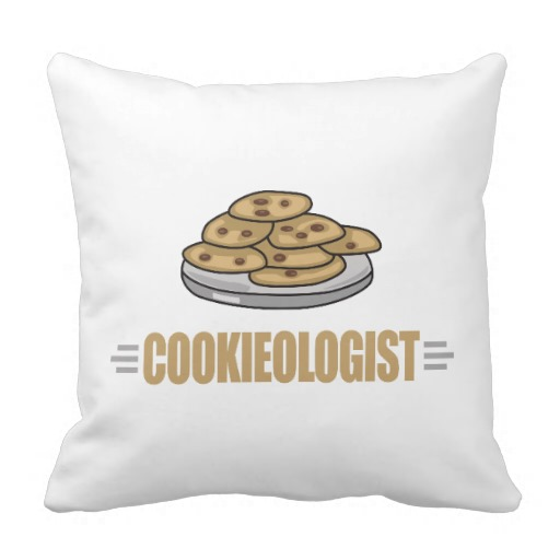 Funny Cookie Lover Throw Pillows