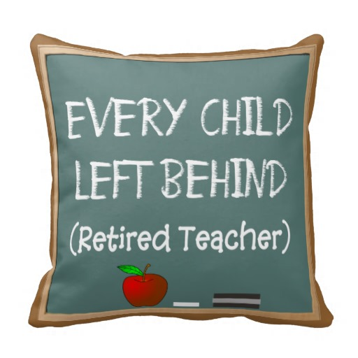 Funny Retired Teacher's Chalk Board Design Pillow